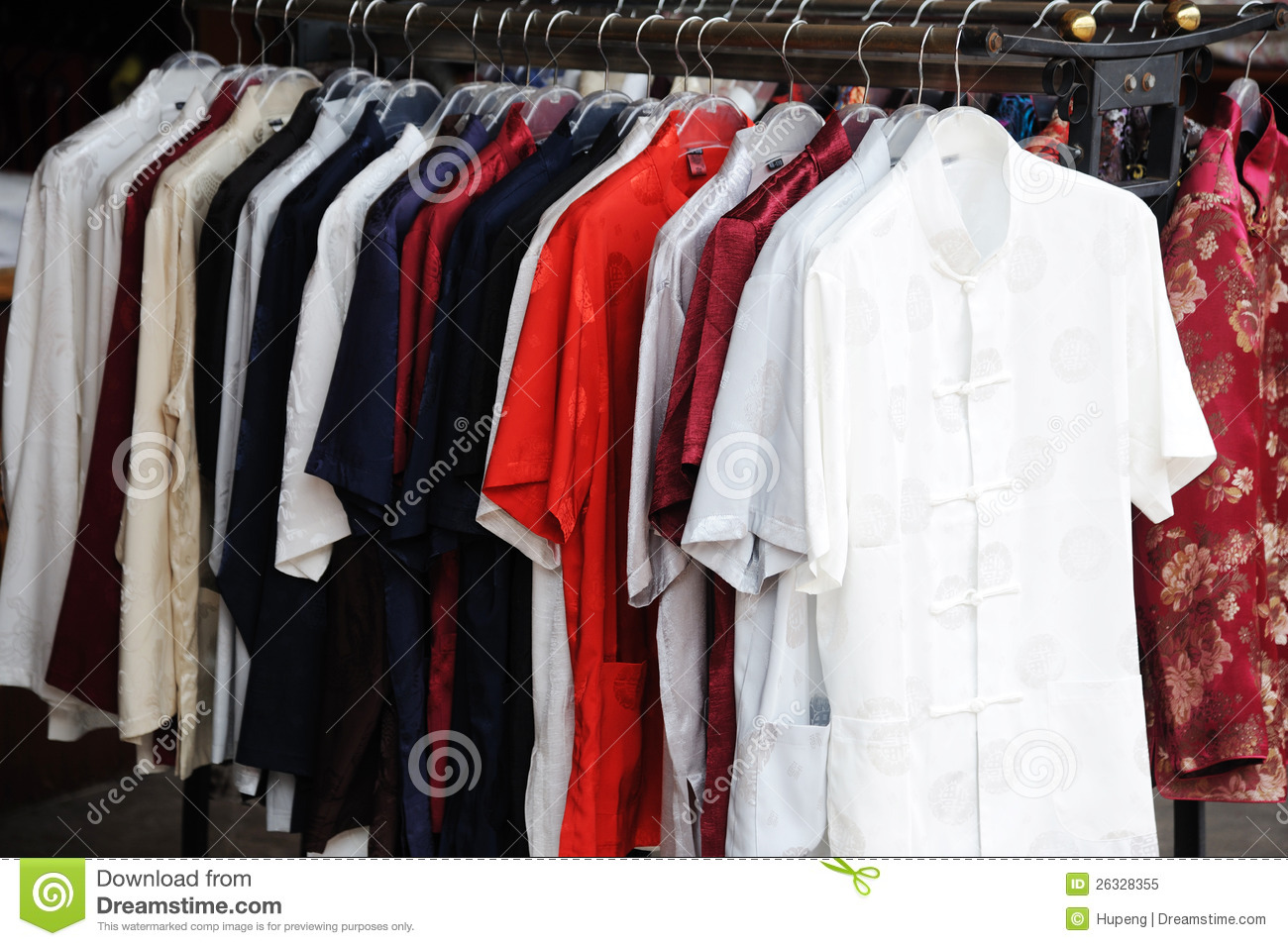 Chinese Traditional Silk Clothes Royalty Free Stock Photo ...