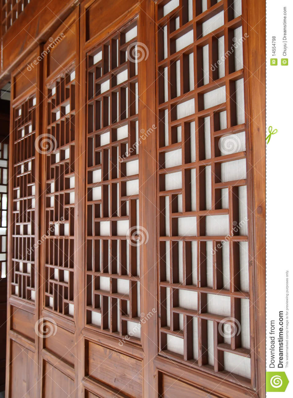 Chinese Traditional Window And Door Royalty Free Stock