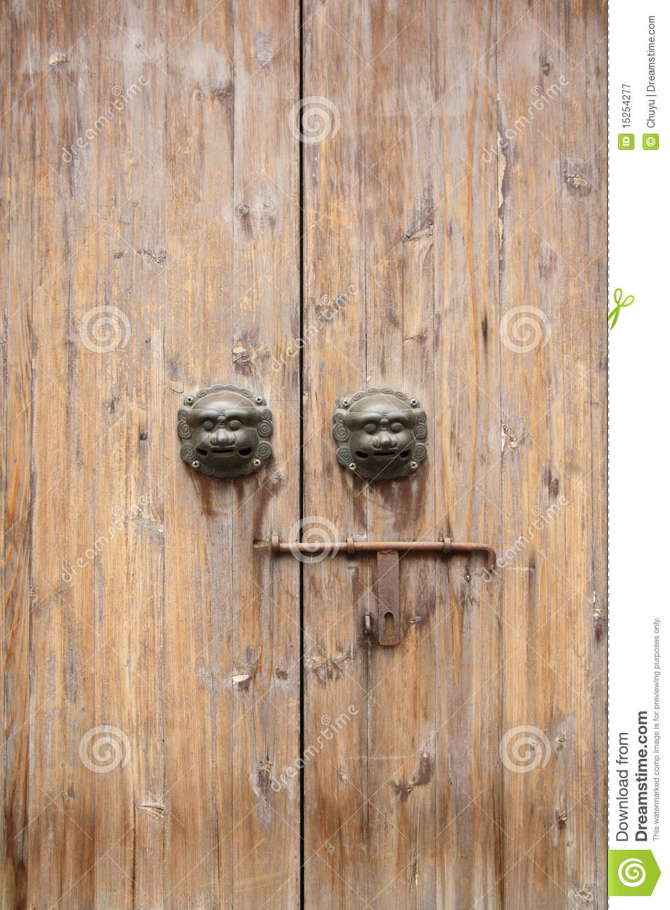 Chinese traditional wood door royalty free stock for Wood in chinese