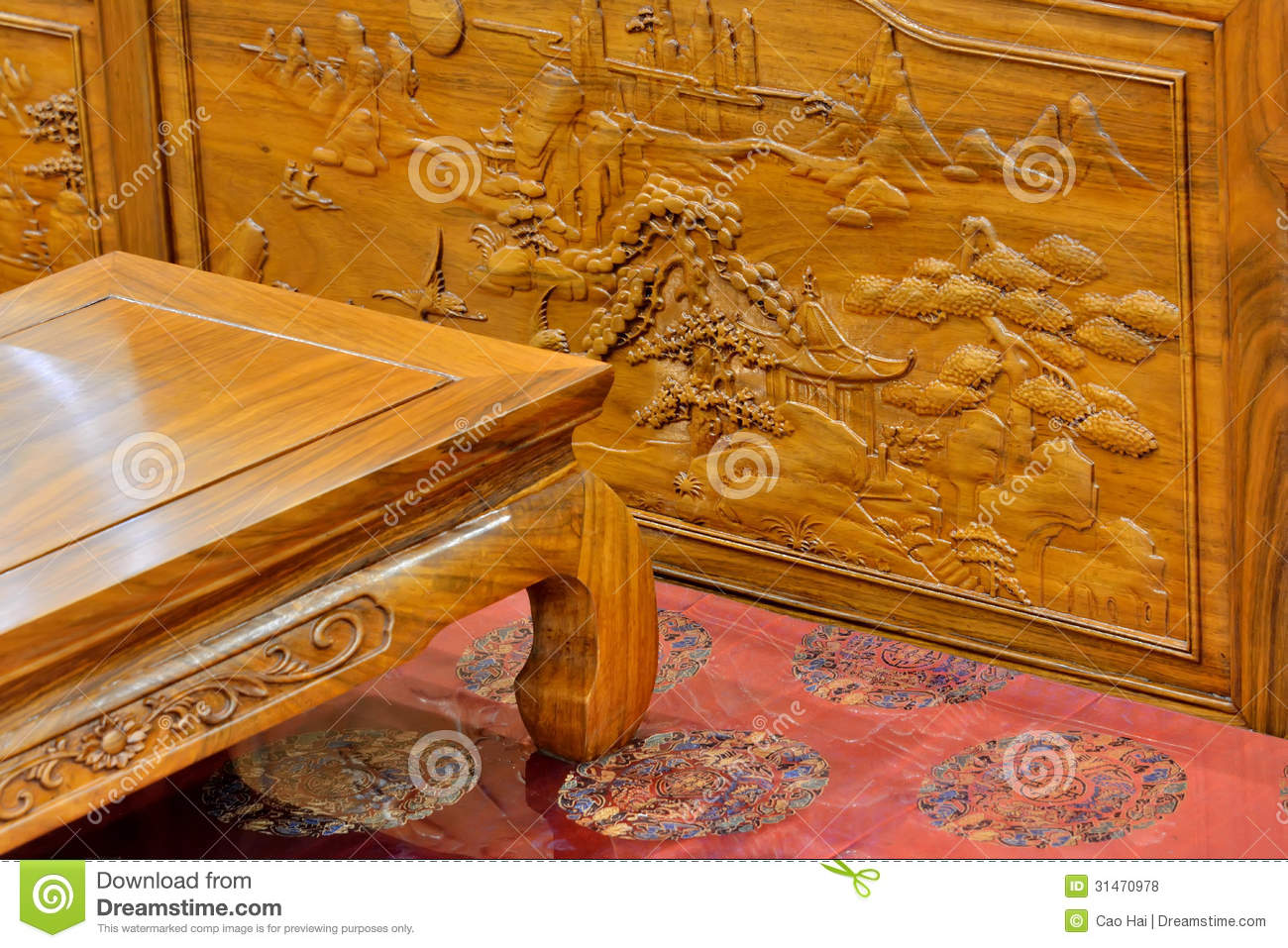 Chinese Traditional Wooden Furniture Royalty Free Stock Photos Image 31470978