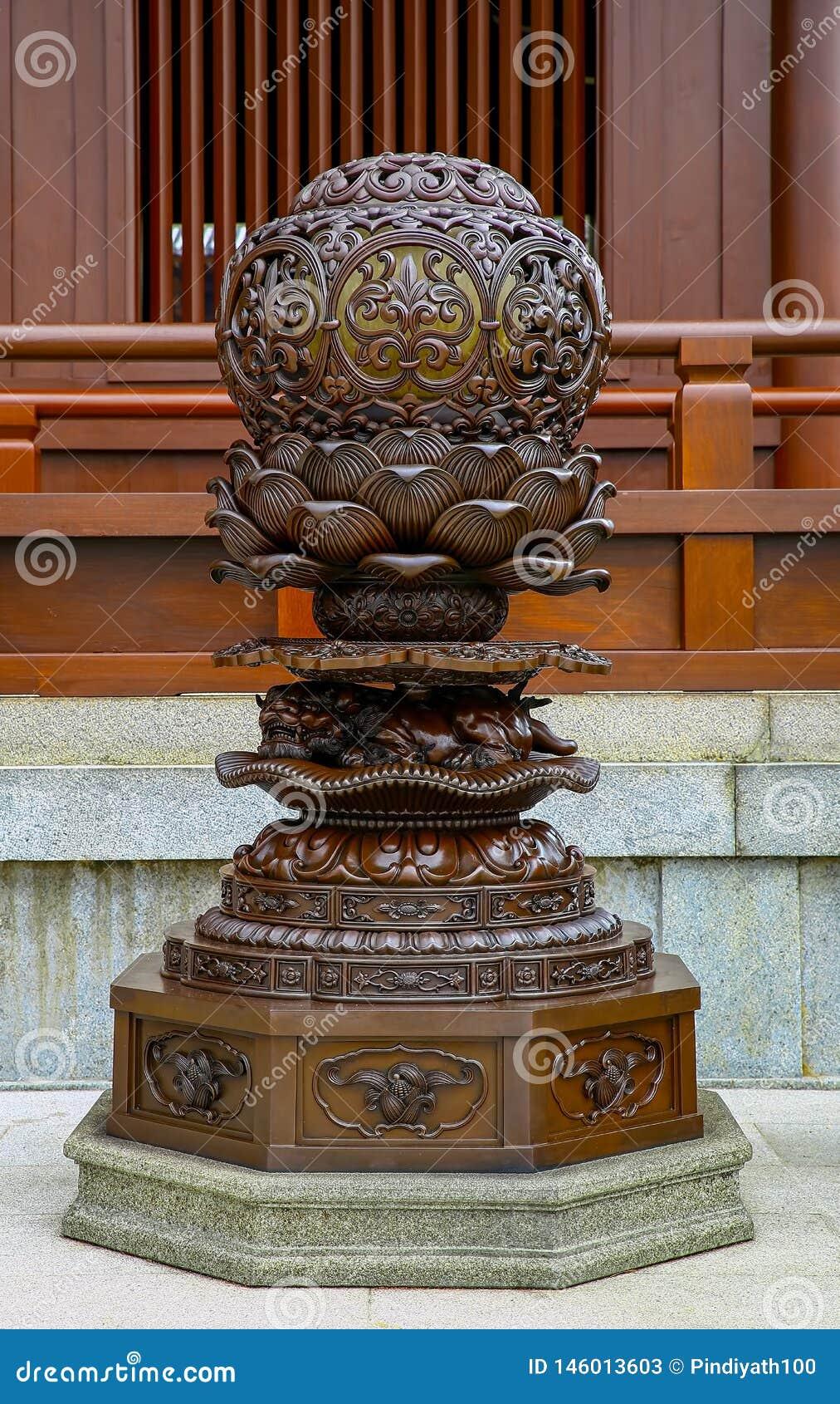 Chinese traditionele uitstekende lantaarnpost