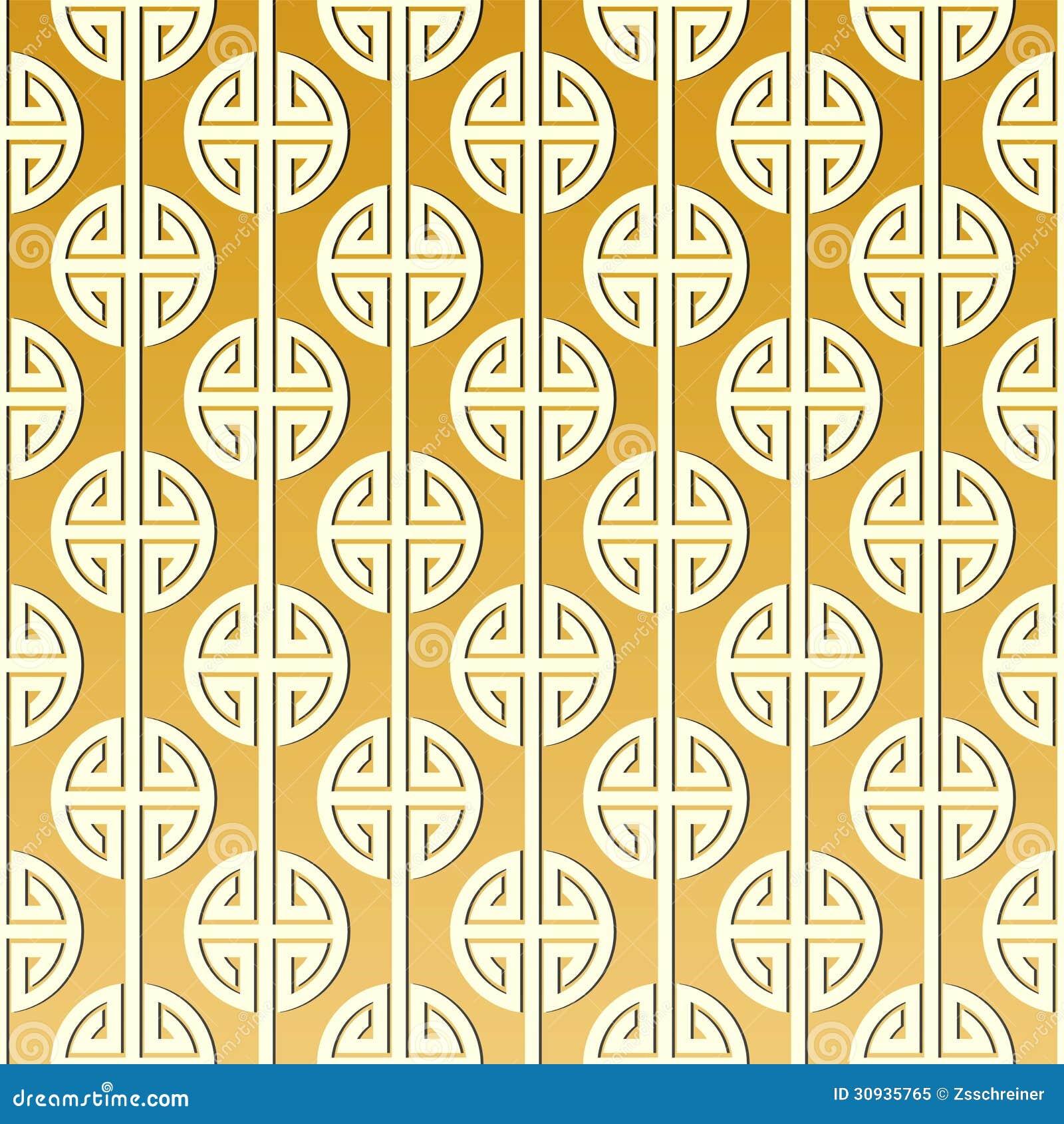 Chinese Type Golden Pattern/ Illustration Royalty Free Stock Photo ...