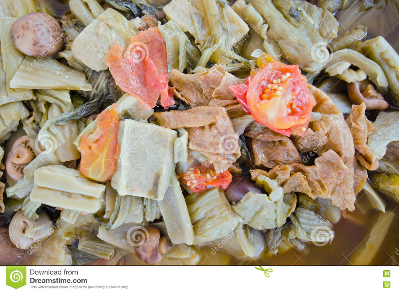 Chinese Vegetable Stew By Thai People (Jab Chai Stew) Stock Image ...