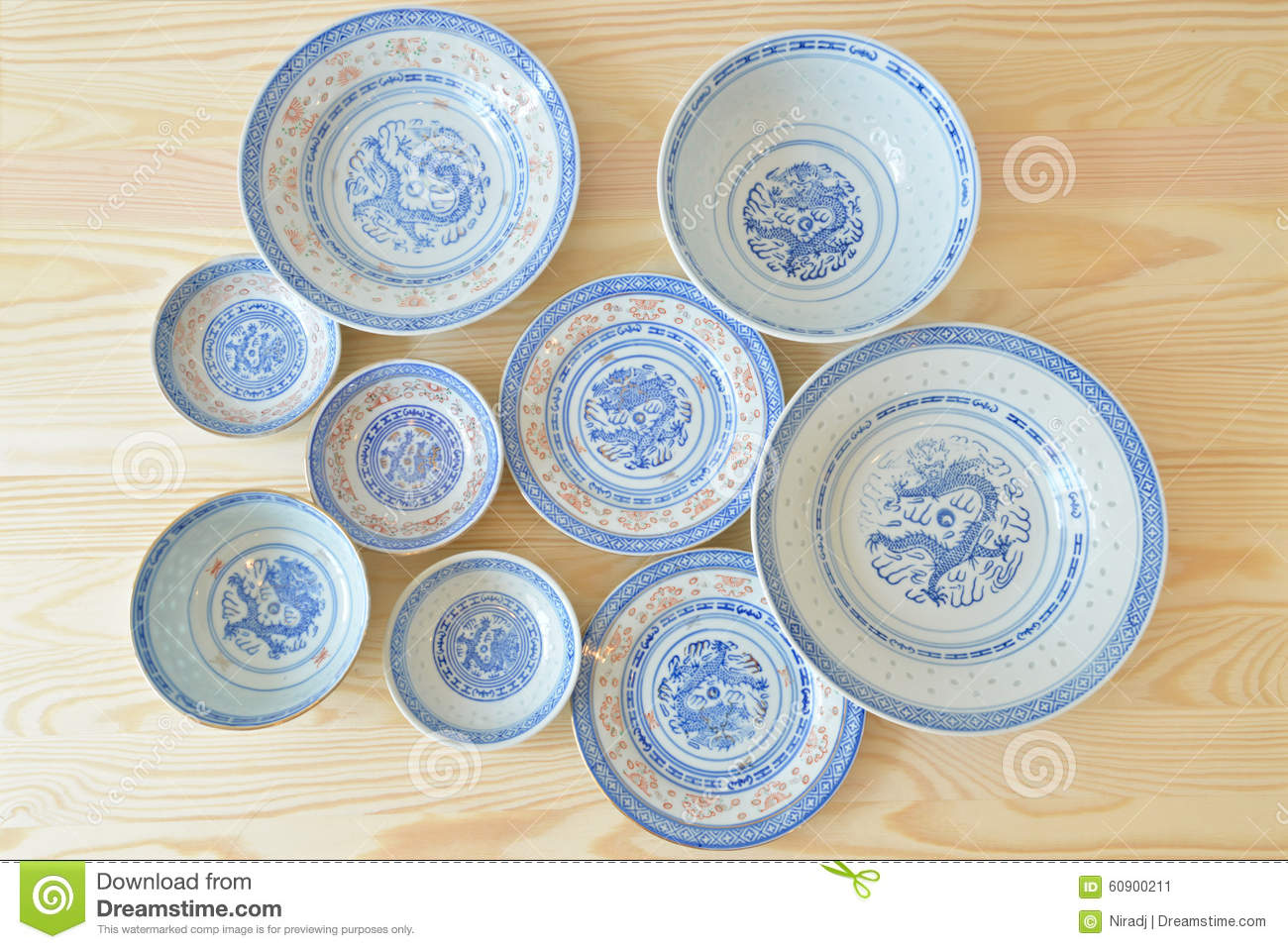 Chinese Vintage Style Blue And White Dishes Stock Image - Image of bright heap 60900211 & Chinese Vintage Style Blue And White Dishes Stock Image - Image of ...