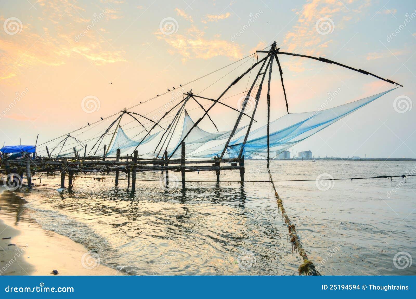 Chinese visserijnetten van fort cochin