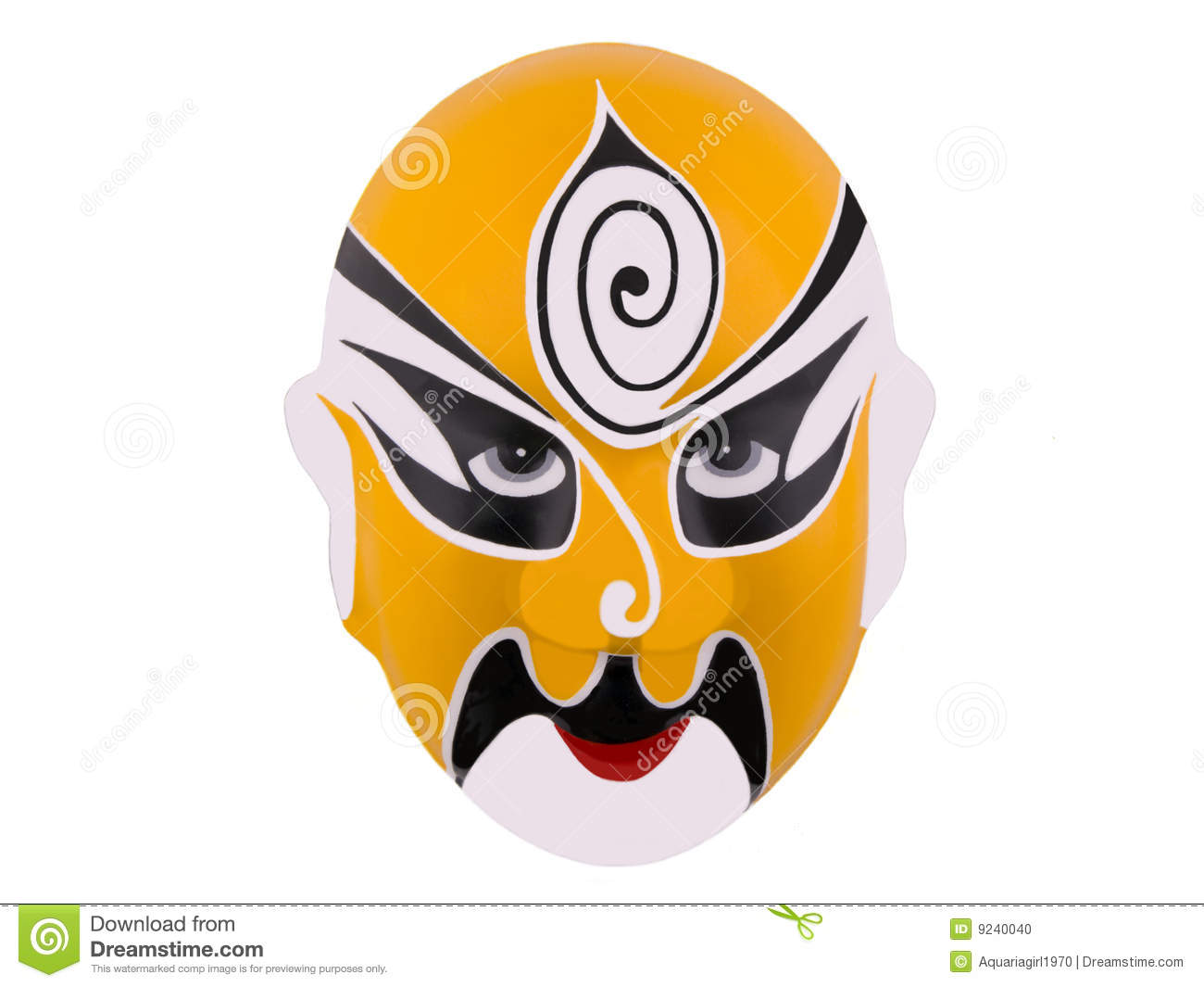 Chinese War Mask Stock Photo Image Of Asian Ancient 9240040