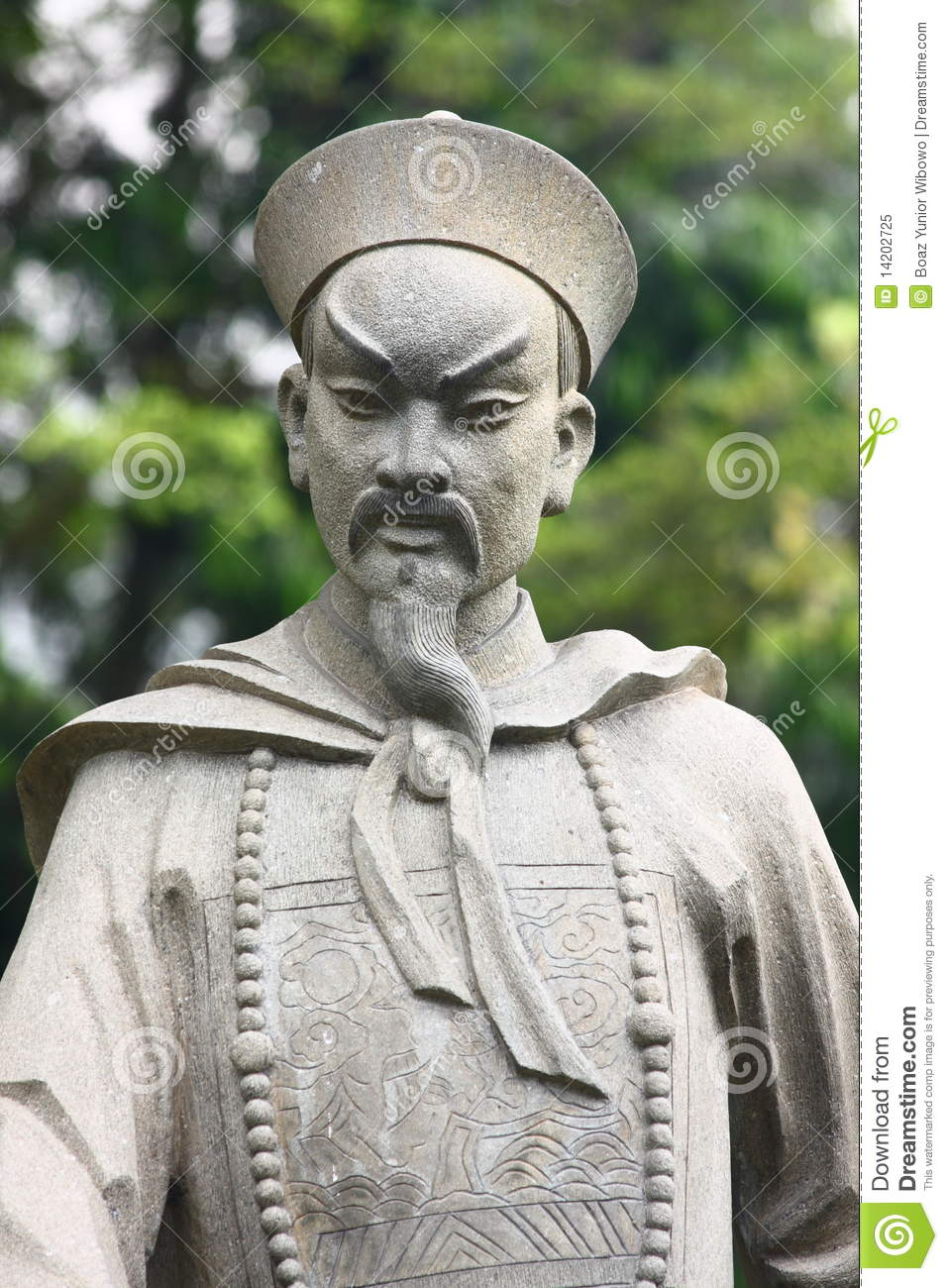 Superieur Chinese Warrior Statue