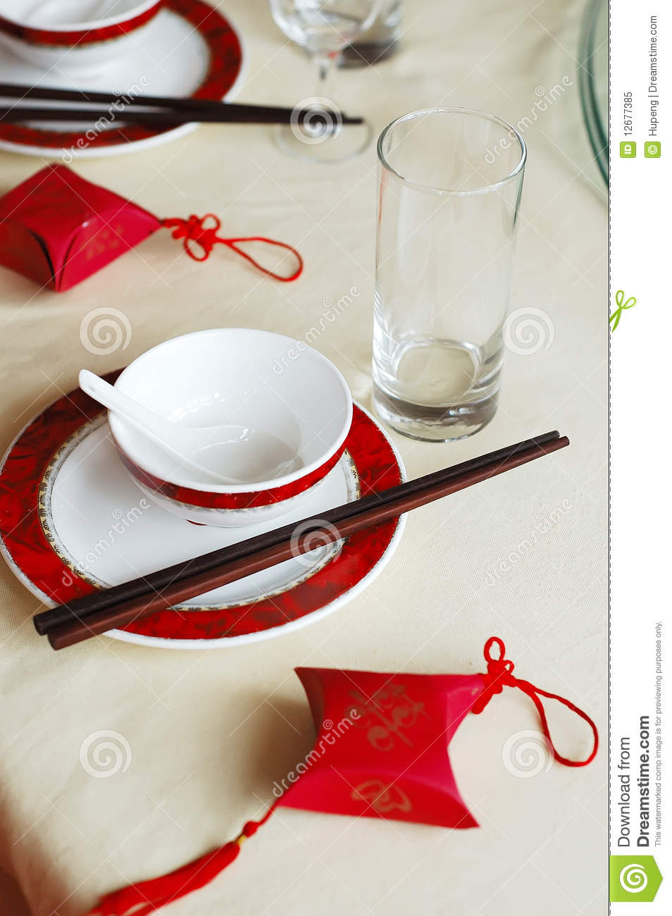 Chinese Wedding Banquet Table Setting Stock Image Image