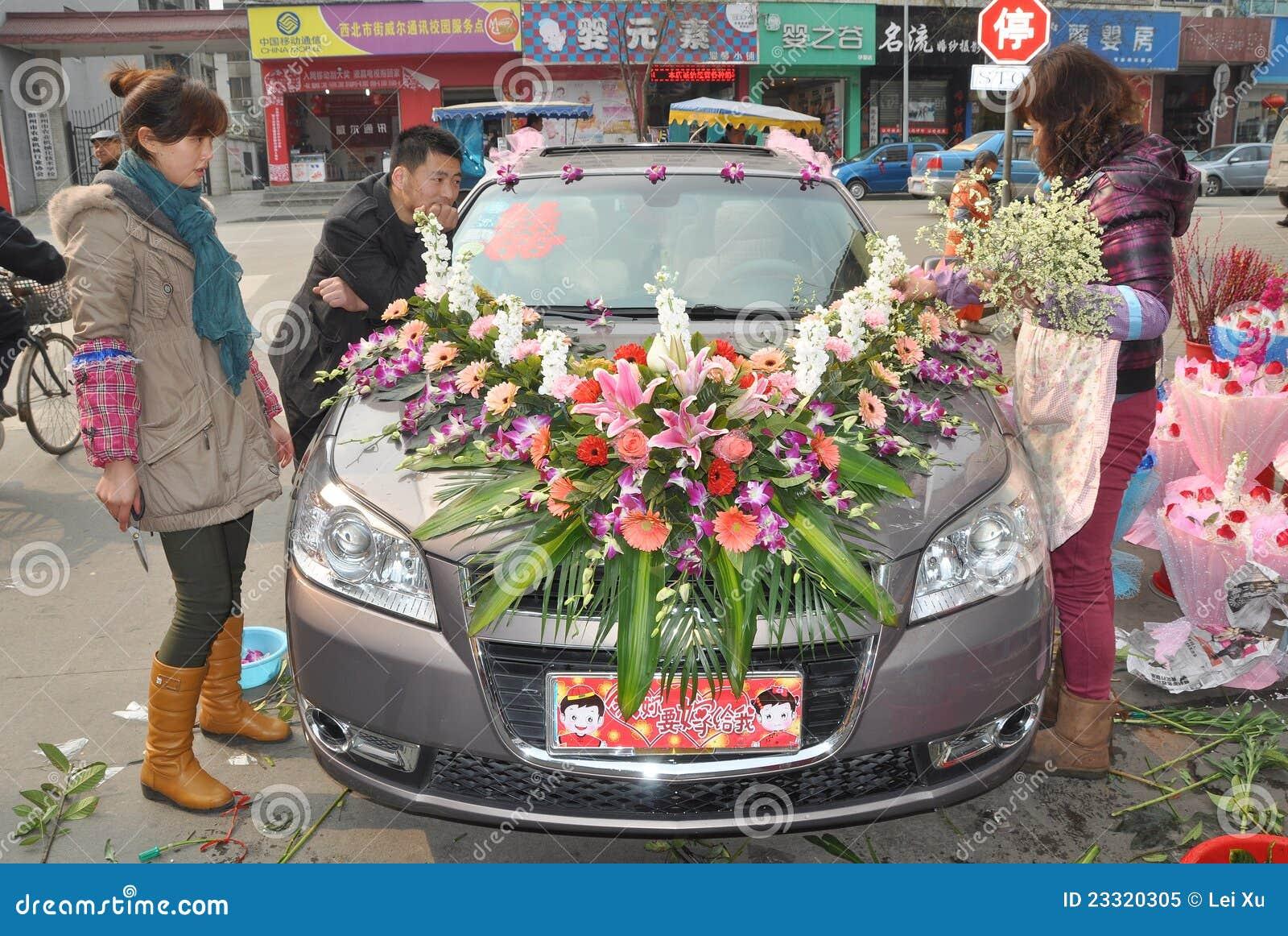 Chinese Wedding Car Editorial Image Image Of China Wedding 23320305