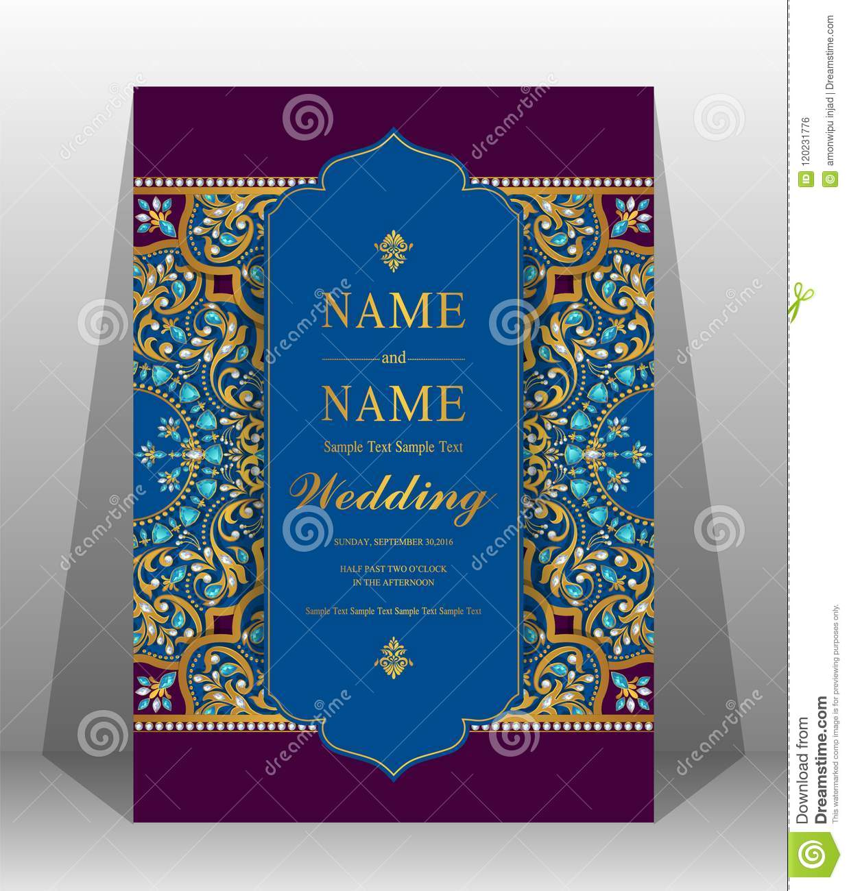 Chinese Wedding Card Templates Stock Vector Illustration Of