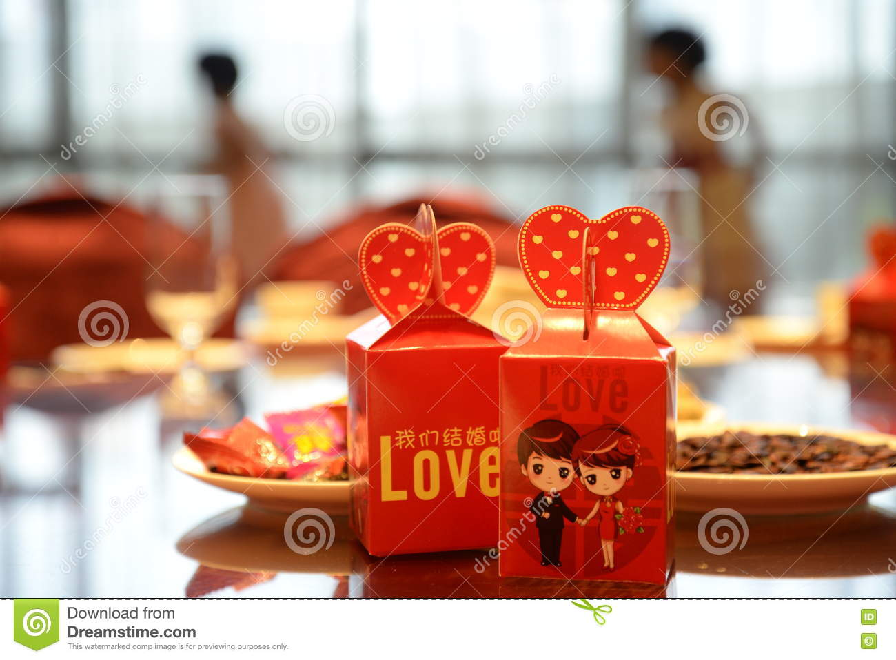 Traditional Chinese Wedding Gifts: Chinese Wedding Gift Box Editorial Stock Image. Image Of