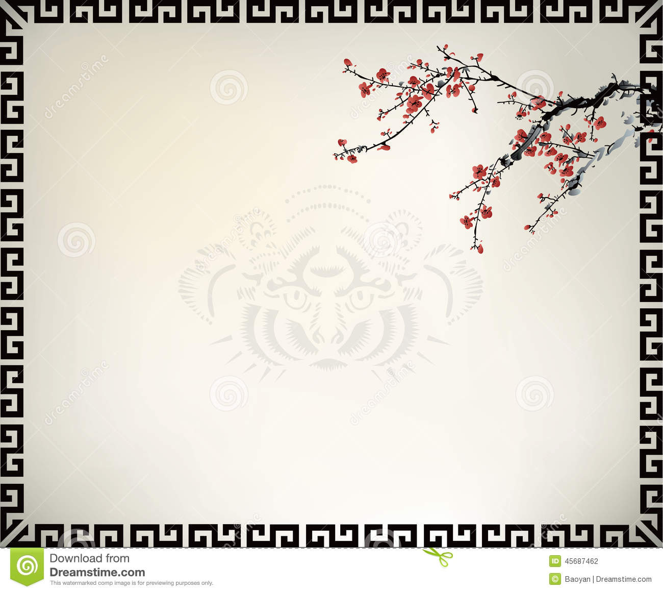 Chinese Window Frame Stock Vector - Image: 45687462