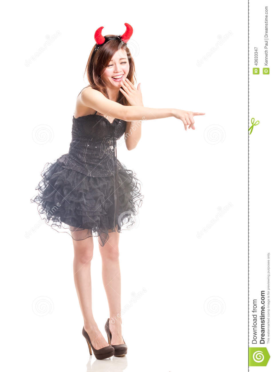Download Chinese Woman In Black Dress And Devil Horns Stock Image - Image of horns  sc 1 st  Dreamstime.com & Chinese Woman In Black Dress And Devil Horns Stock Image - Image of ...