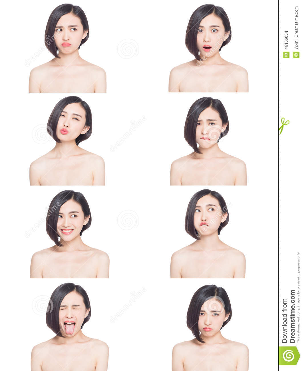 Gender difference in facial expressions properties leaves
