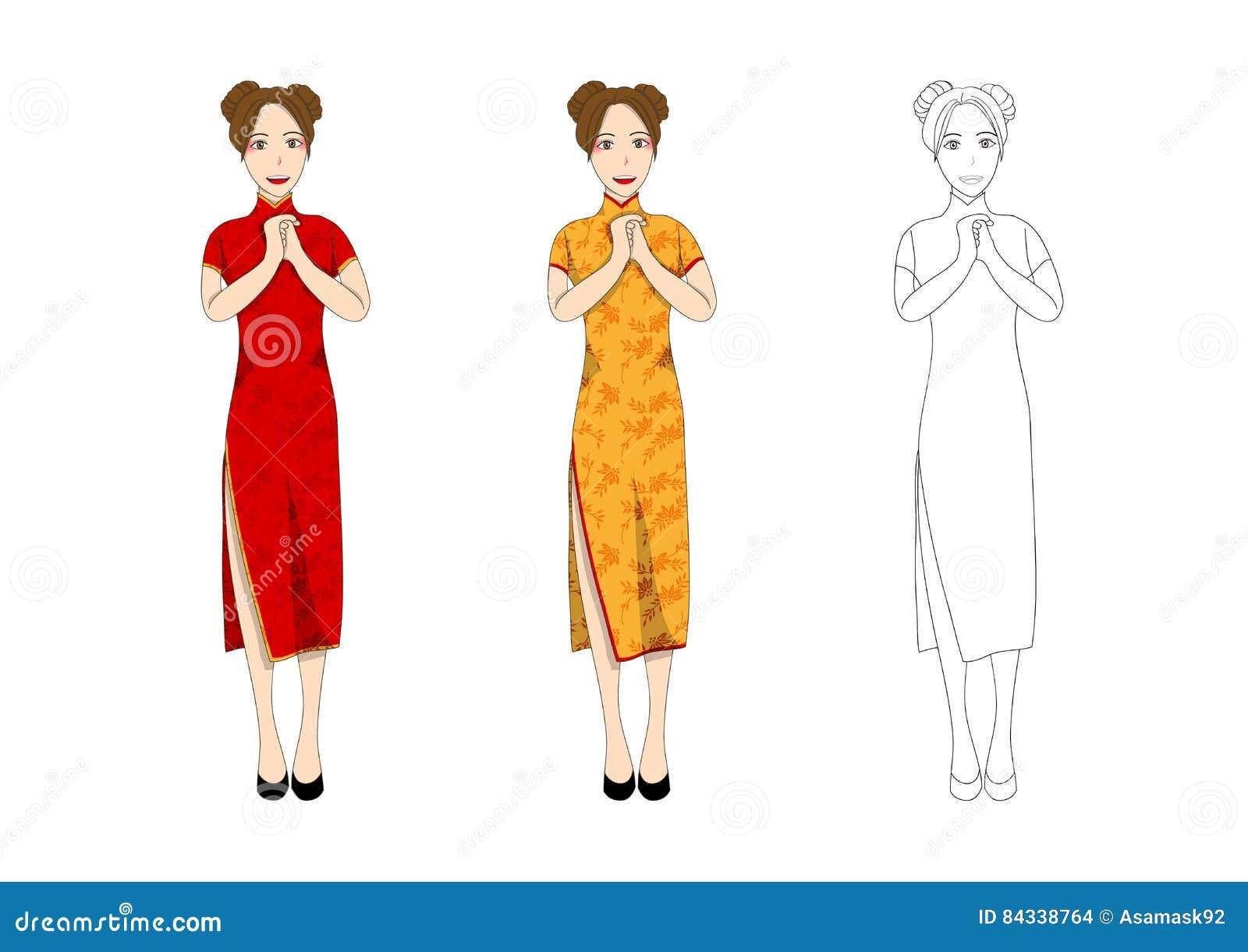 Qipao Cartoons Illustrations Amp Vector Stock Images 149