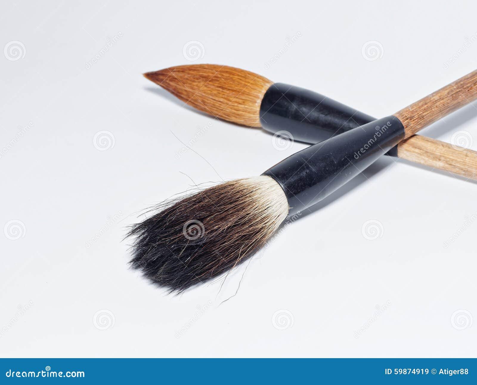 Chinese Writing Brushes Isolated On White Background