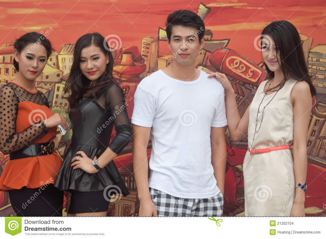 Chinese young models