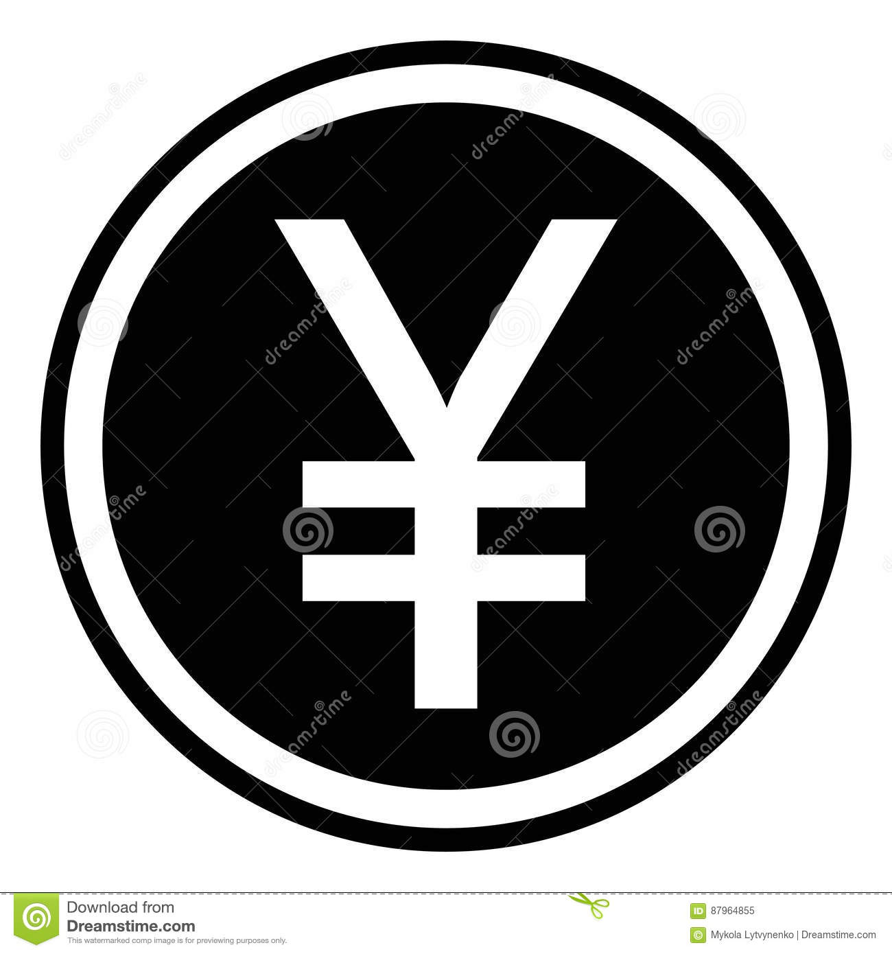 Chinese Yuan Icon Isolated Sign Symbol Stock Illustration