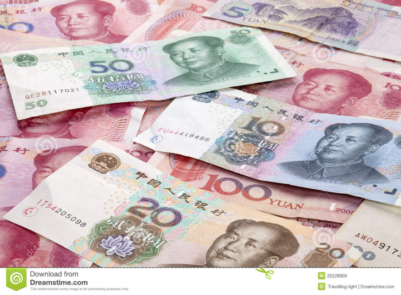 Chinese Yuan Renminbi Currency Background Royalty Free Stock Image Image 25228906