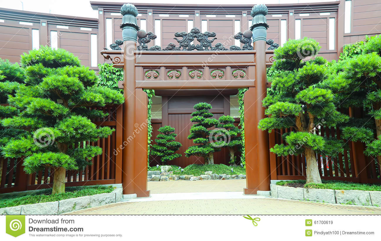 Chinese Zen Garden Entrance Stock Image Image Of Ancient Style