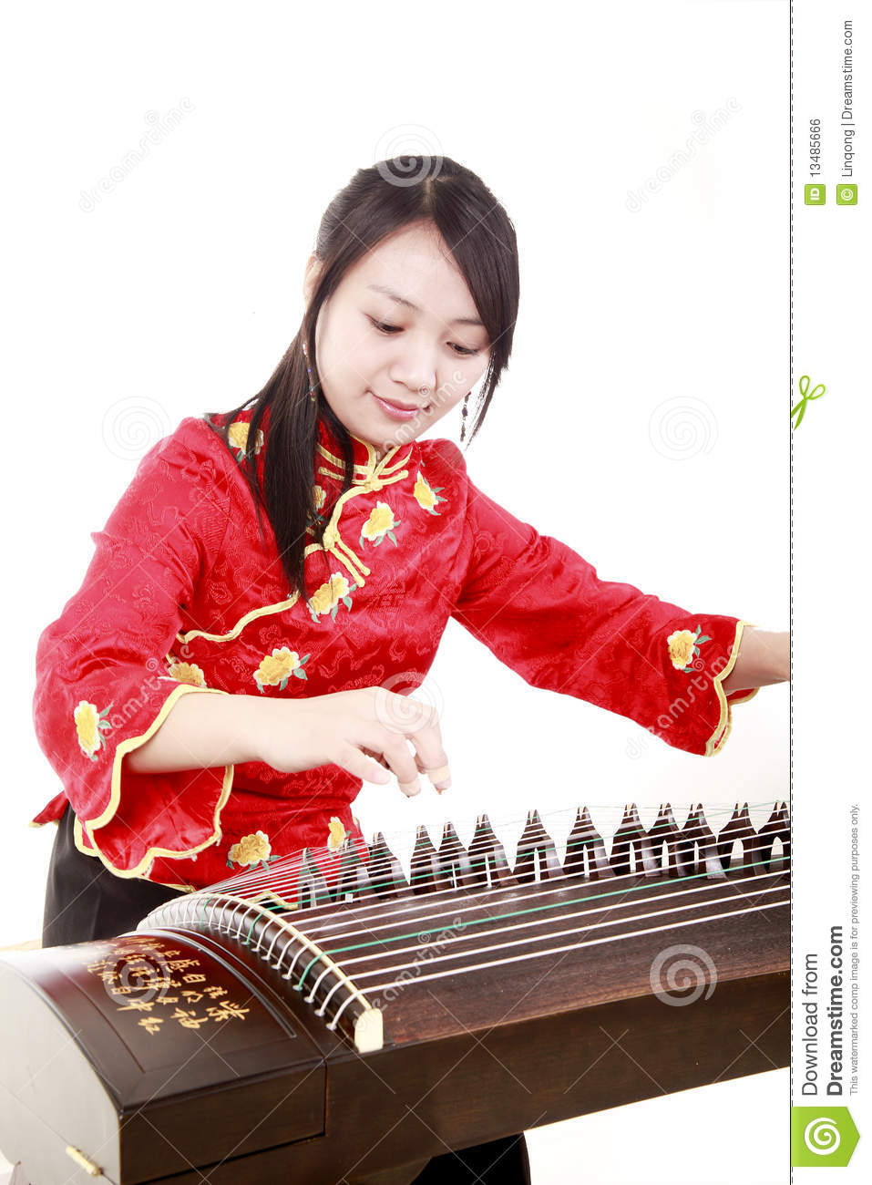 chinese zither performer stock photo image of decorates