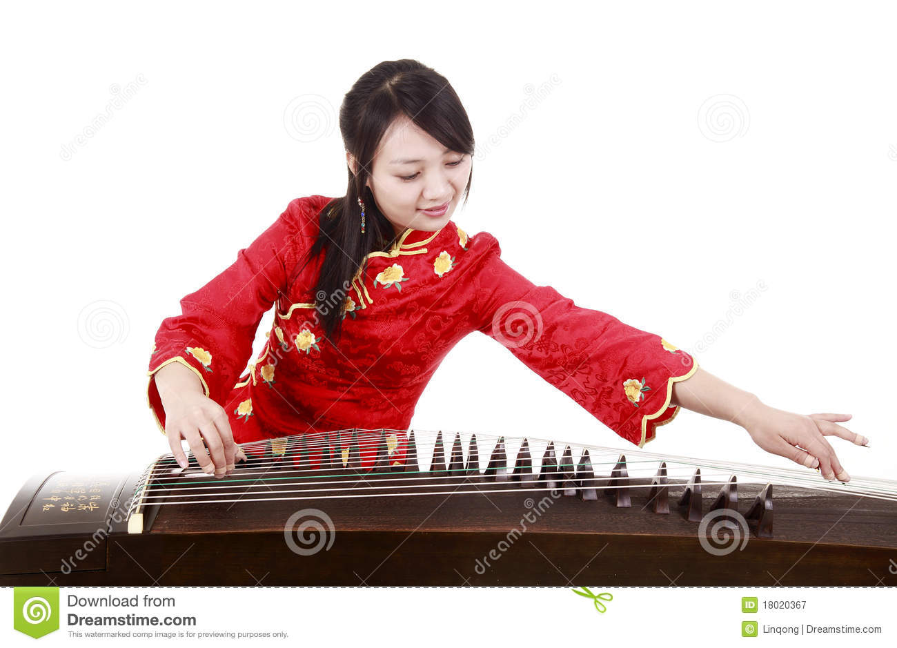 Chinese zither performer stock image Image of asian