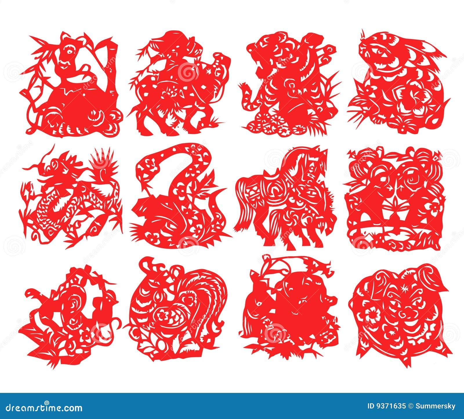 Chinese Zodiac Royalty Free Stock Photo - Image: 9371635