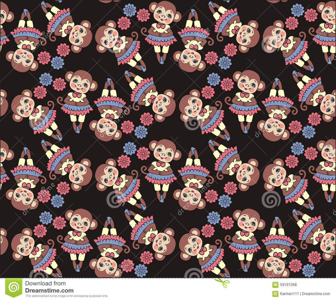 new year monkey 2016 seamless pattern fabric winter christmas design