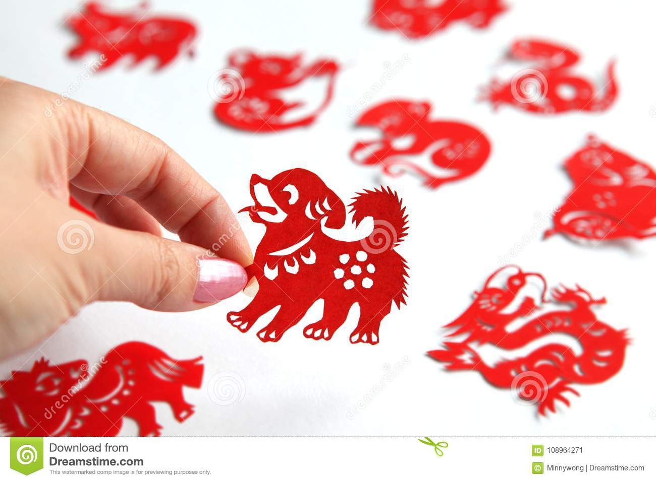 chinese zodiac papercutting year of dog