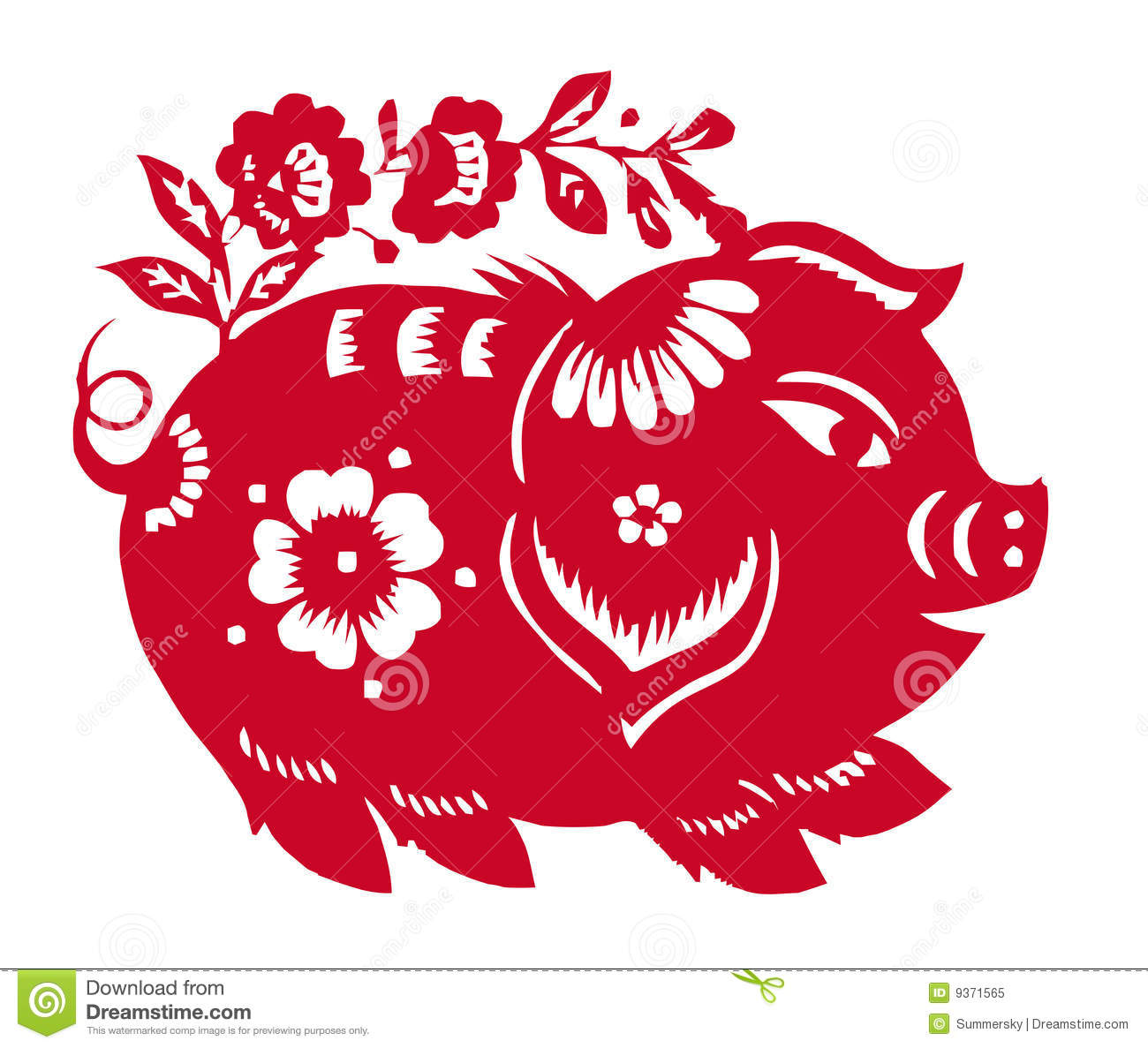 Chinese Zodiac Of Pig Year Royalty Free Stock Photo - Image: 9371565
