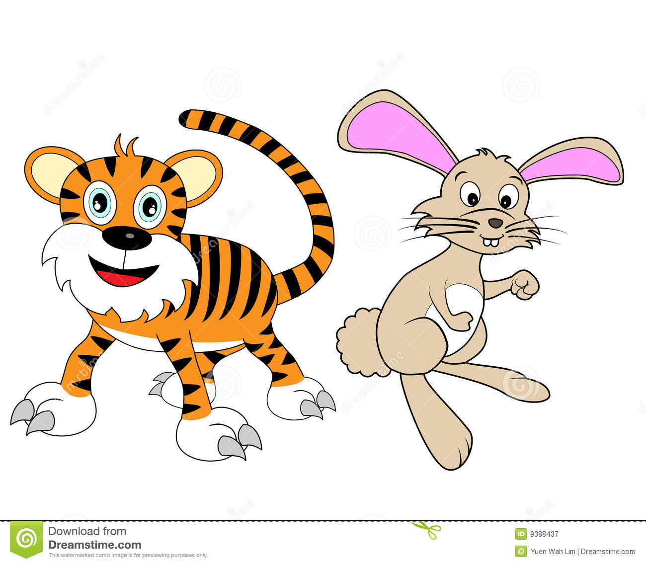 Chinese Zodiac Set 2 : Tiger And Rabbit Royalty Free Stock Photography ...