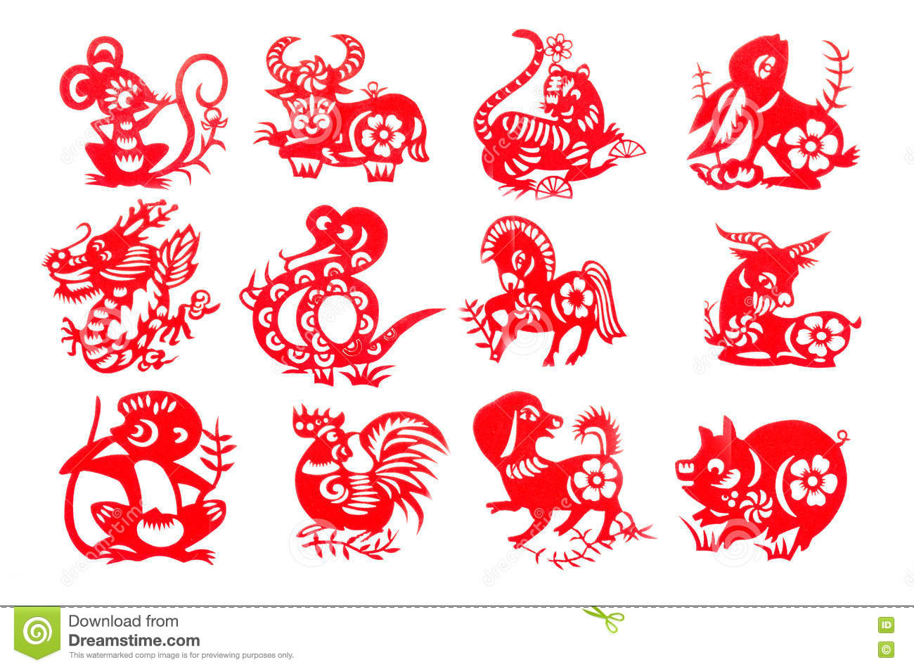 Zodiac stock images download 11229 photos chinese zodiac 12 set red paper cut collection traditional which import from china for decoration buycottarizona Image collections