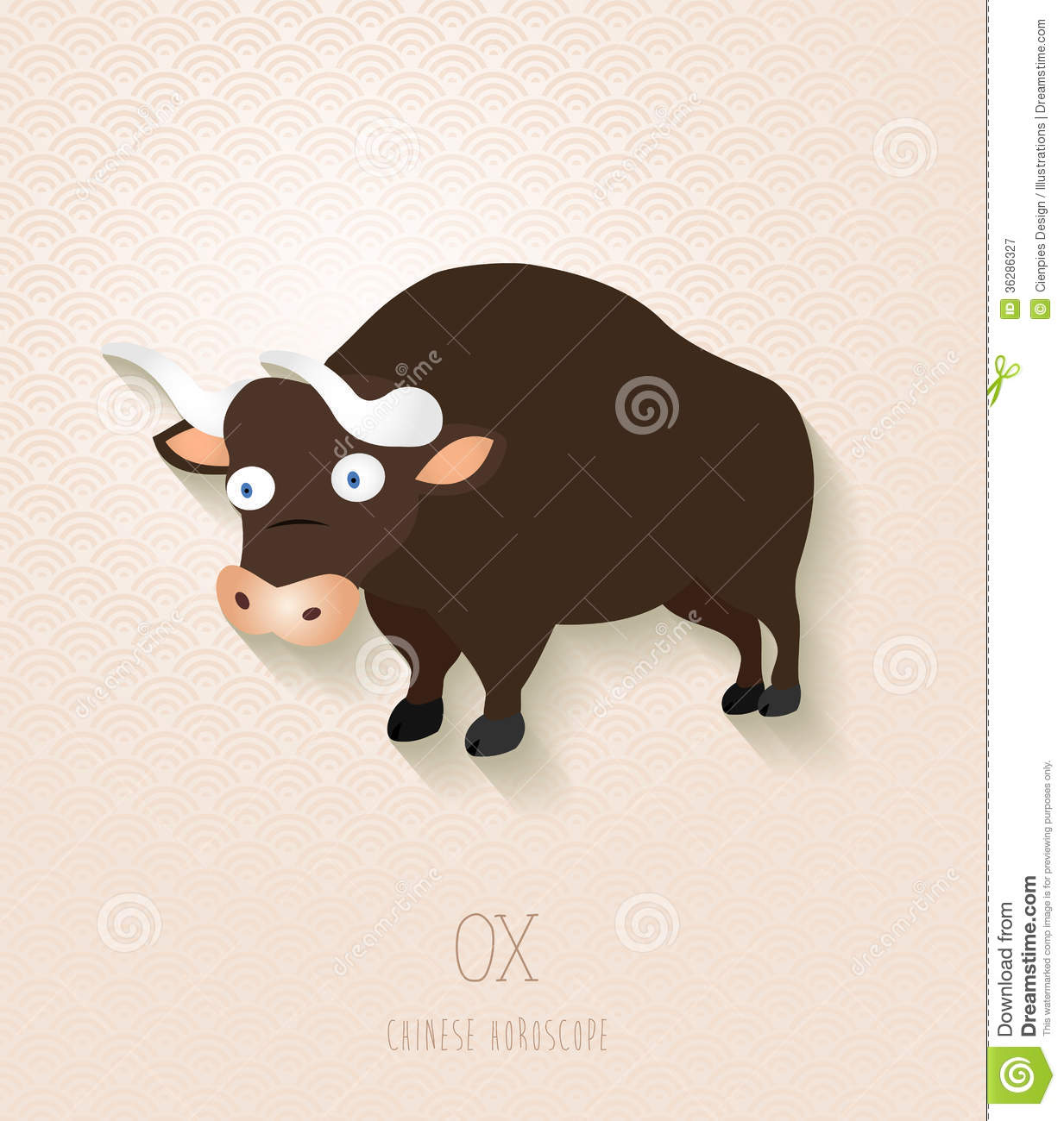 Chinese Zodiac Set Year Of The Ox Royalty Free Stock Photography ...