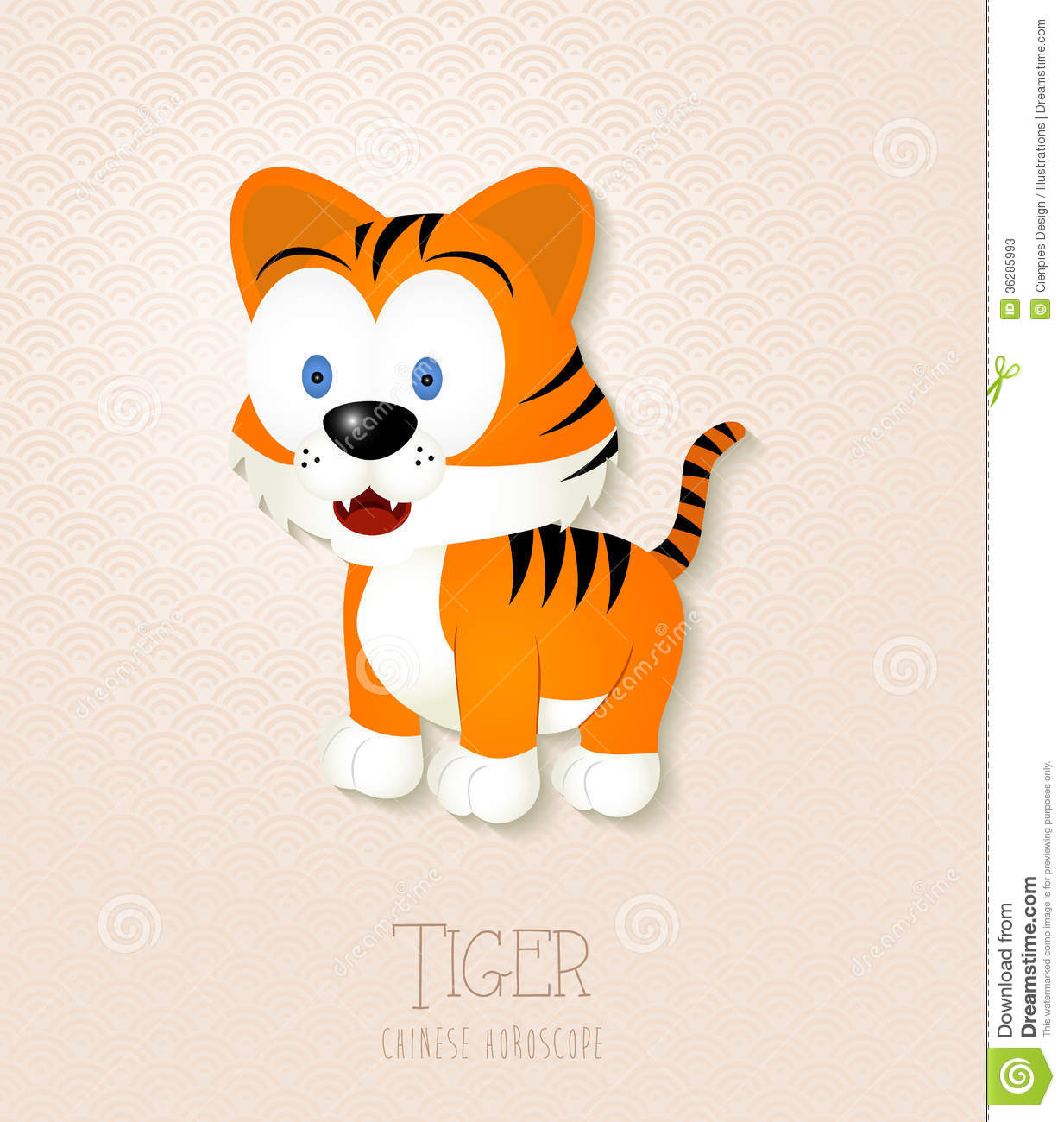 Chinese Zodiac Set Year Of The Tiger Stock Photos Image 36285993