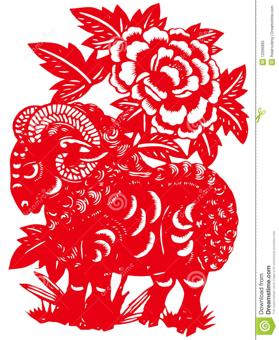 Chinese zodiac of sheep stock illustration. Image of ... Chinese Lantern Clipart