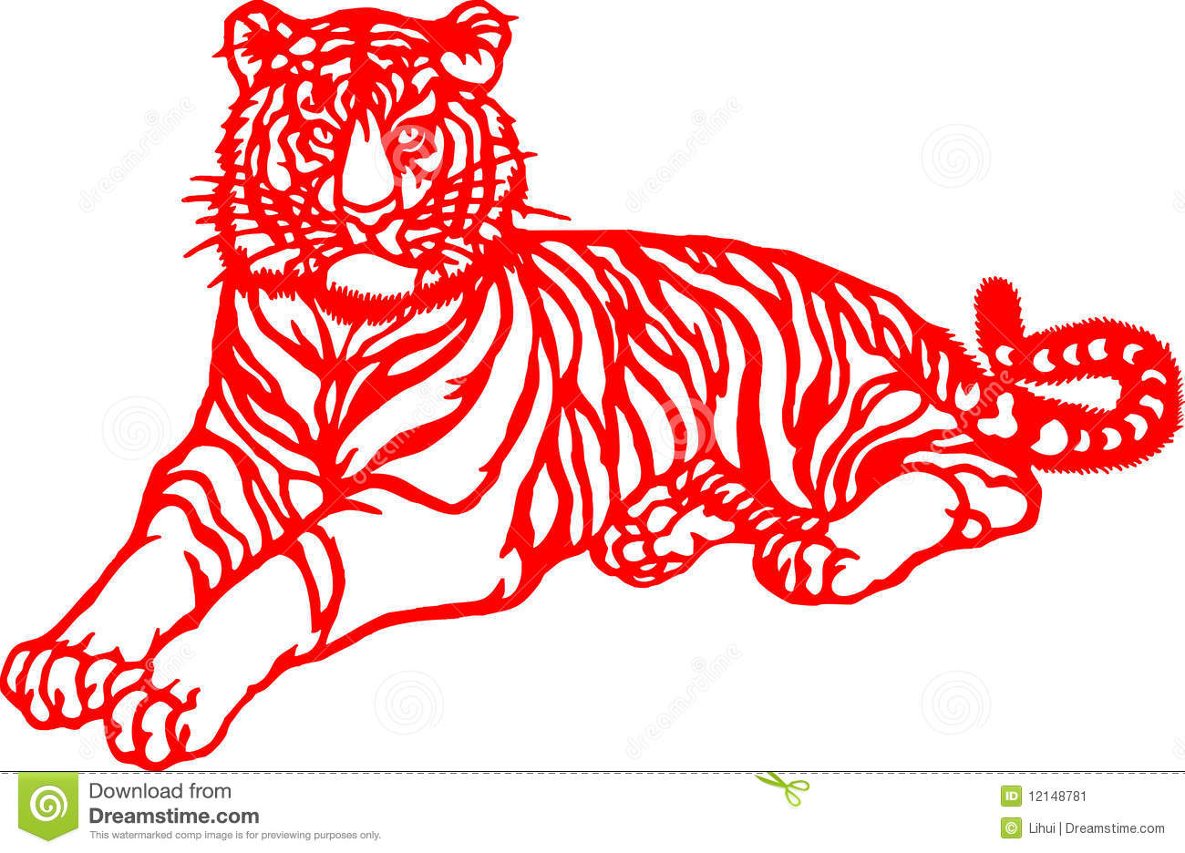 Chinese zodiac of tiger year stock image image 12148781
