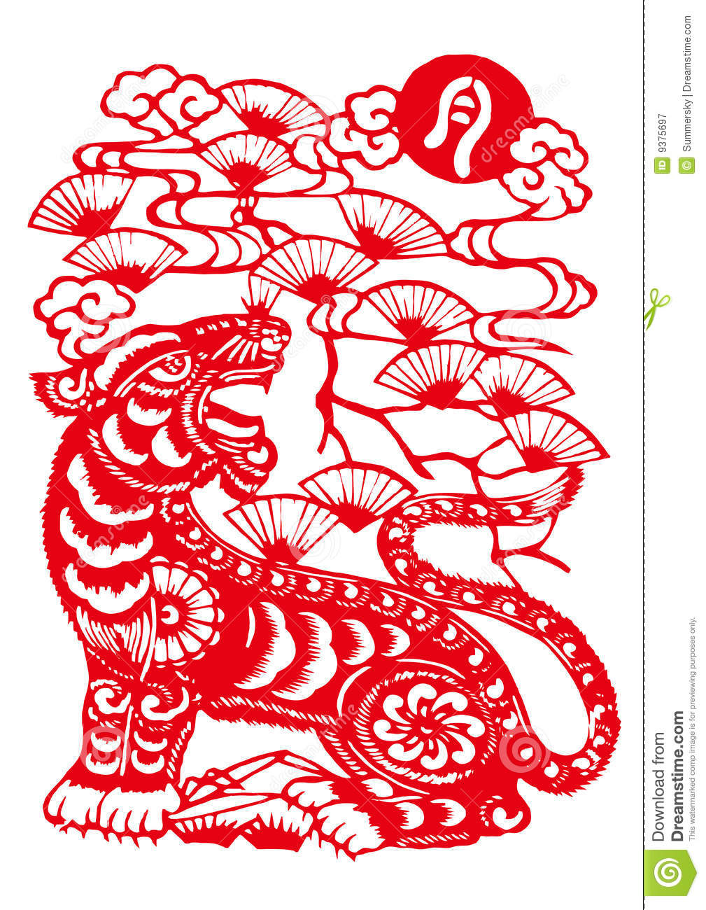 chinese zodiac of tiger year royalty free stock