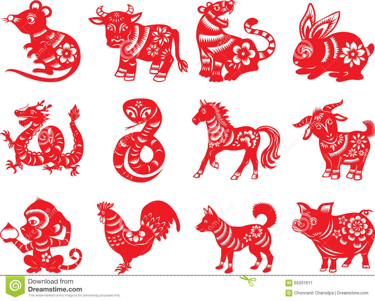 777cc96e6 Chinese zodiac paper cut style in red. Designers Also Selected These Stock  Illustrations