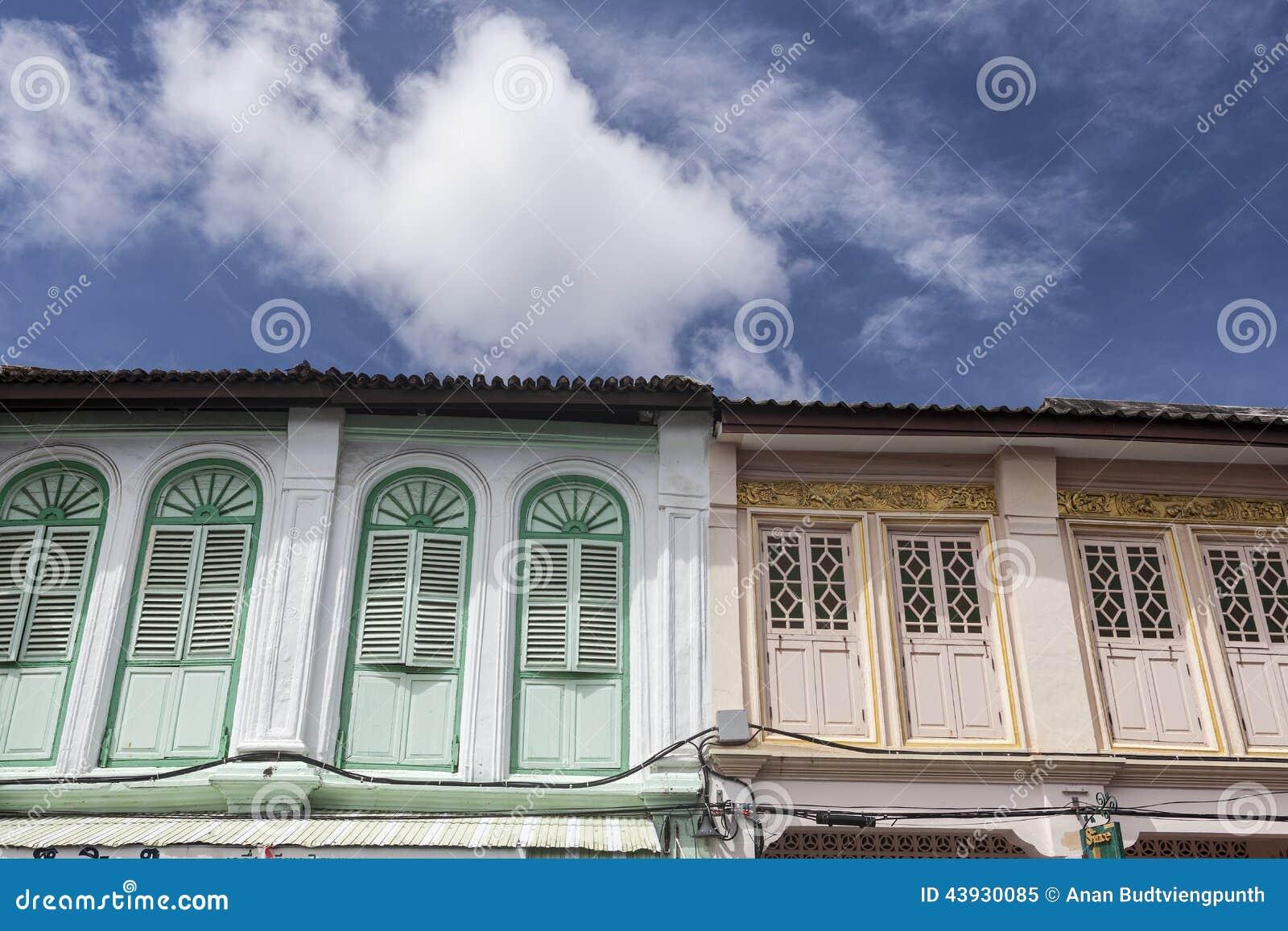 Chinesisch-portugiesische Architektur Beeinflußte Gebäude In Phuket ...