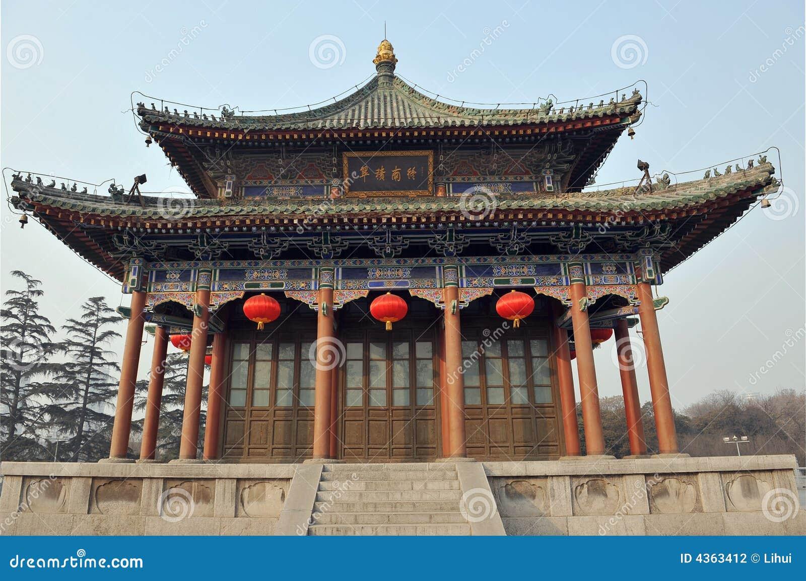 Chinesische Architektur | Chinesische Architektur Stockfoto Bild Von Fliesen Xian 4363412