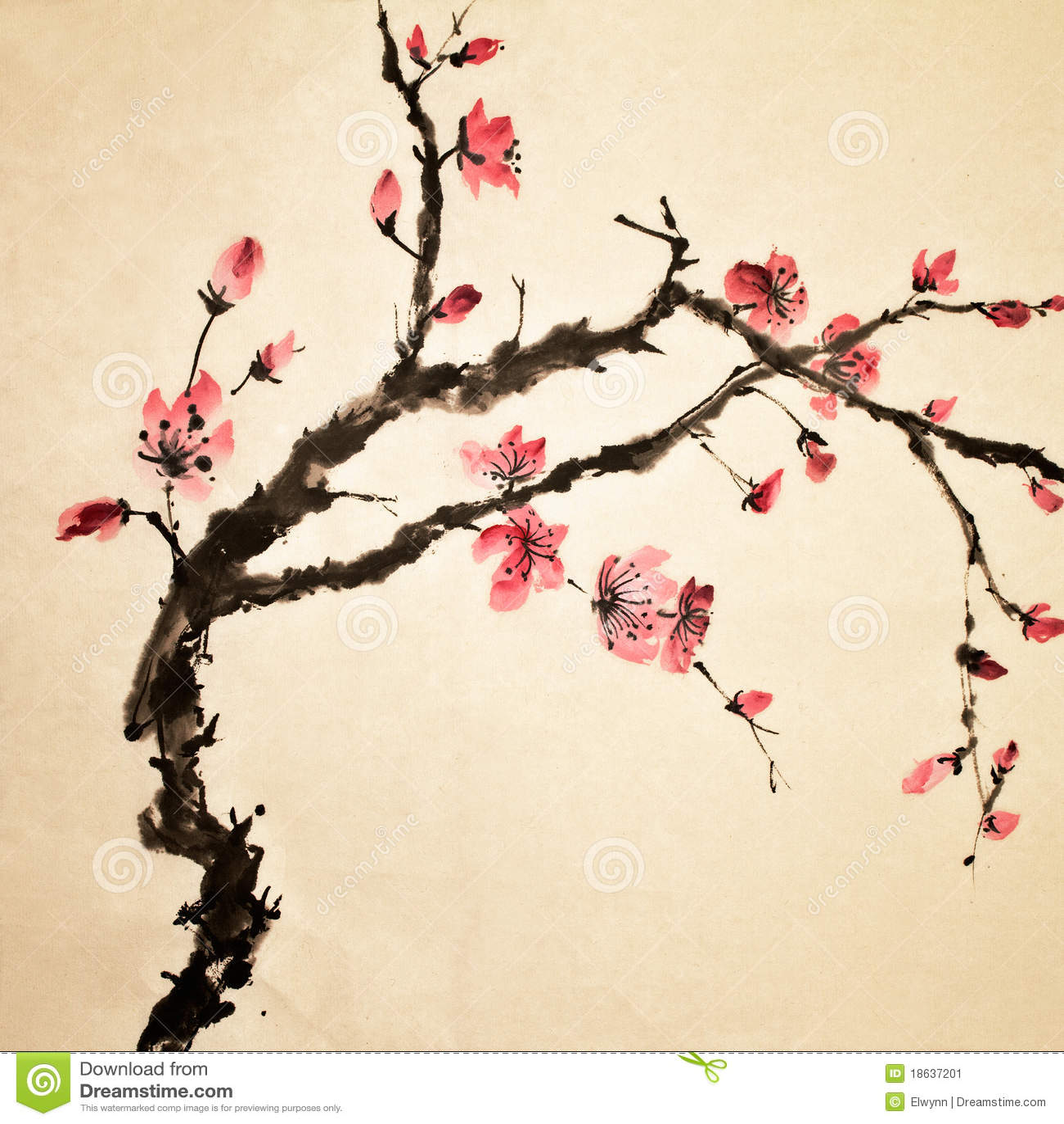 chinesische blume stockbild bild 18637201. Black Bedroom Furniture Sets. Home Design Ideas