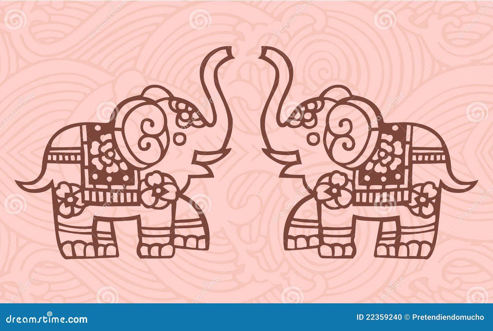 Chinesische Elefanten