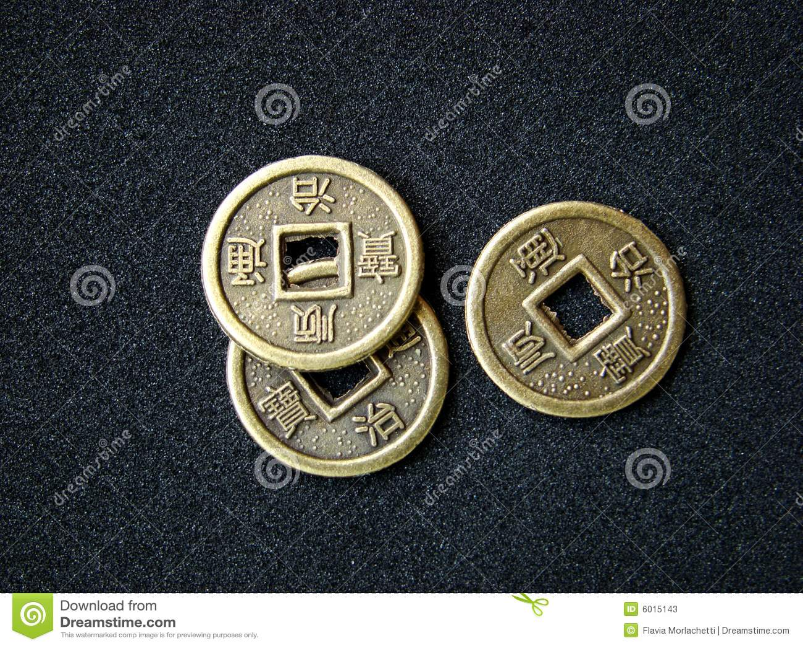 Chinesische Feng Shui Münzen Stockbild Bild Von Tier Kunst 6015143