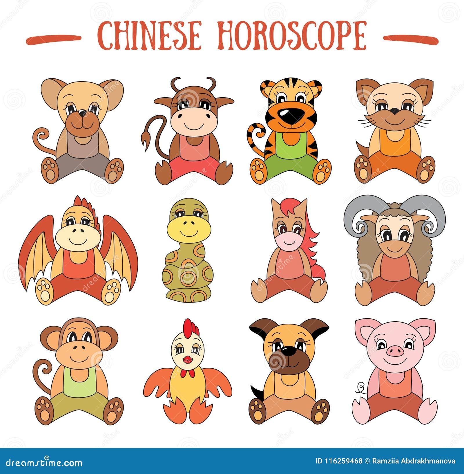 Chinesische Horoskopsammlung Sternzeichensatz Schwein