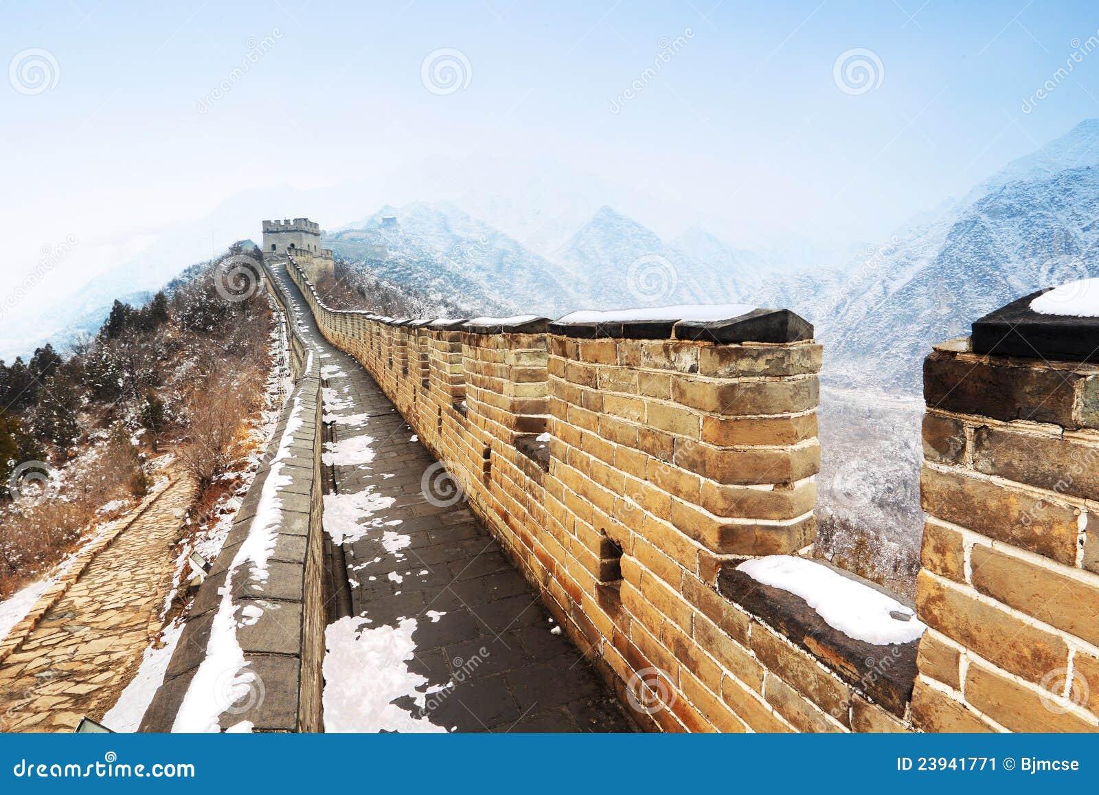 Chinesische Mauer im Schnee