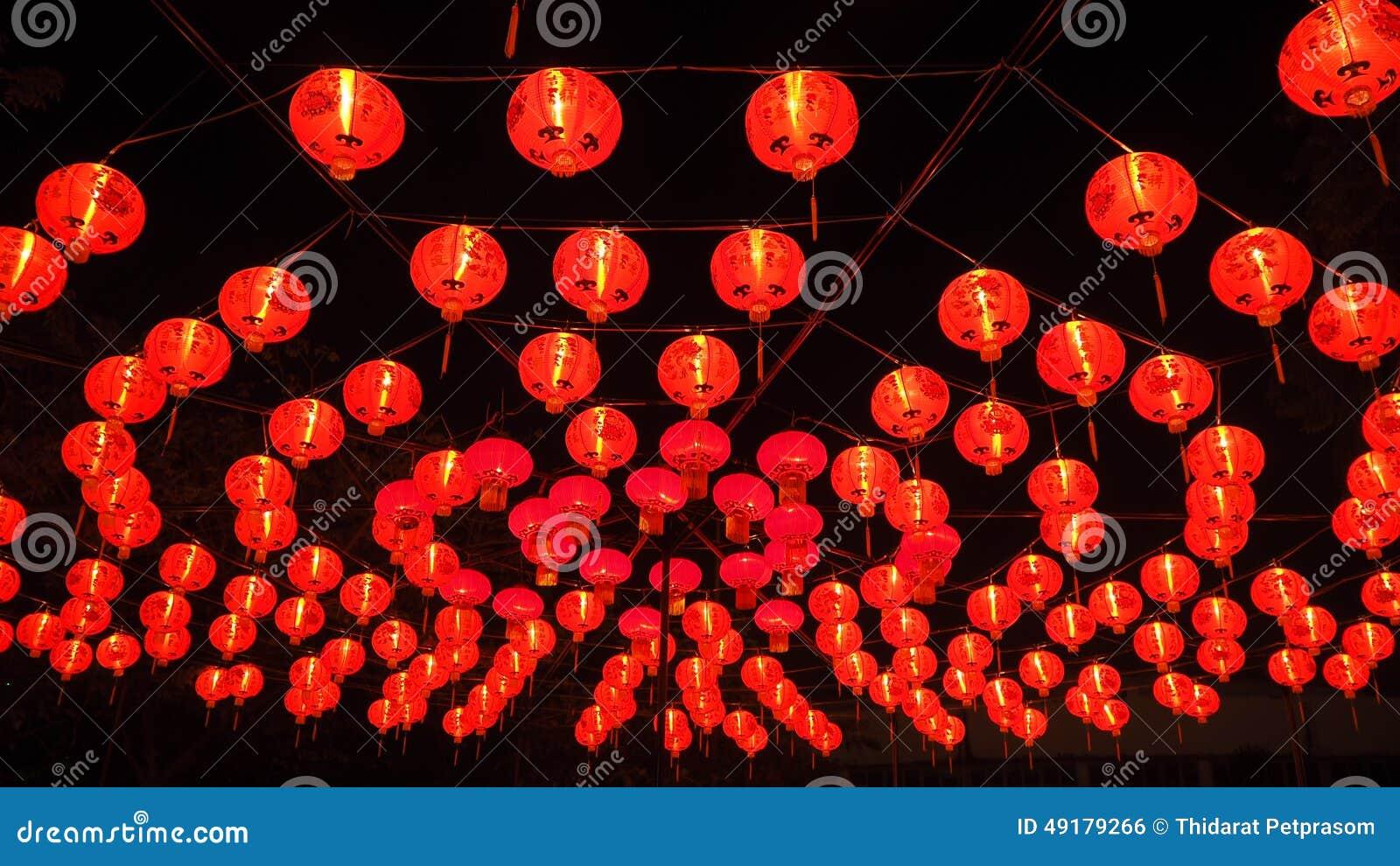 chinesische rote laternen im chinesischen neuen jahr stockfoto bild 49179266. Black Bedroom Furniture Sets. Home Design Ideas