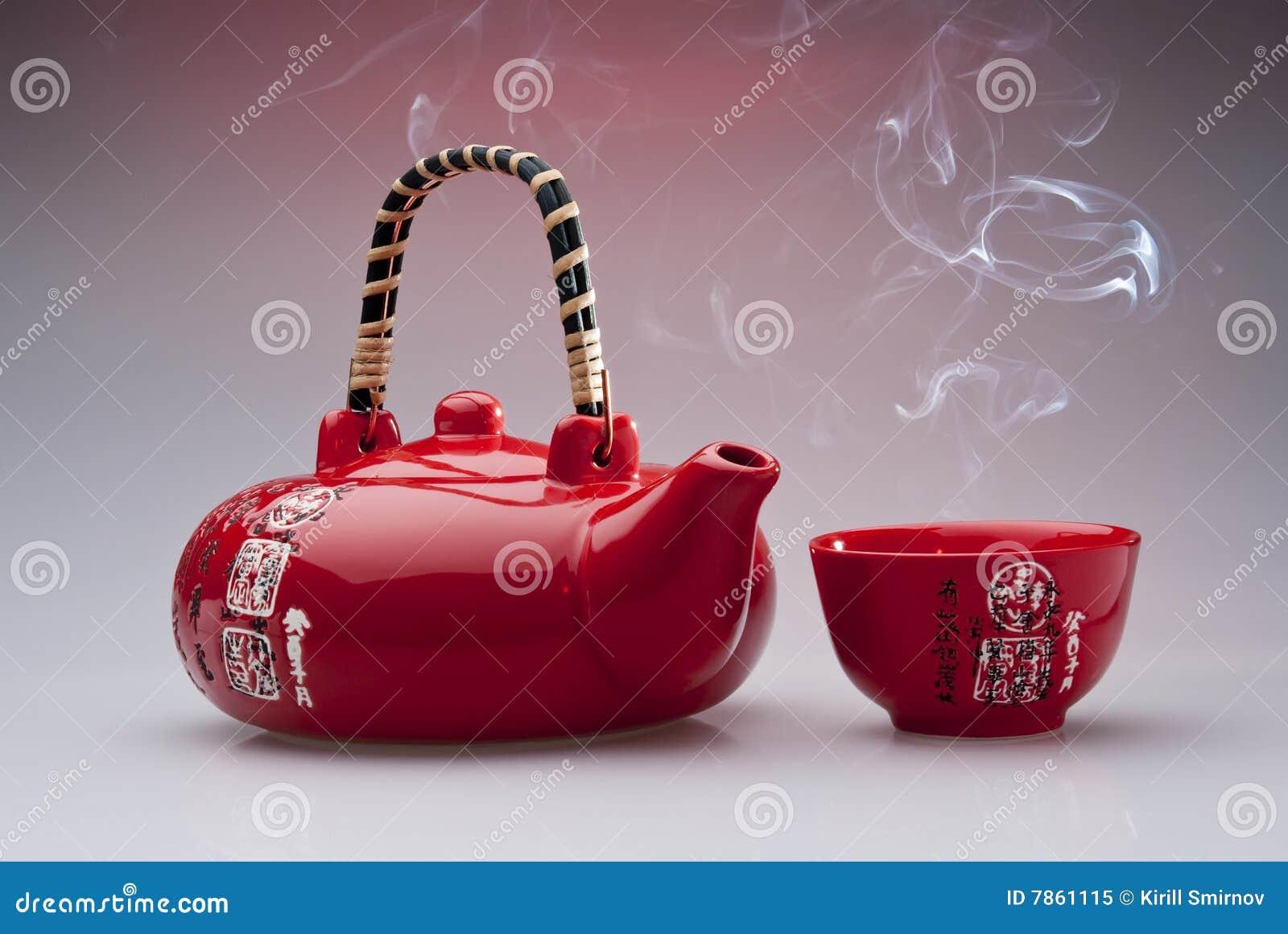 chinesische teekanne und cup stockbild bild von bruch frische 7861115. Black Bedroom Furniture Sets. Home Design Ideas