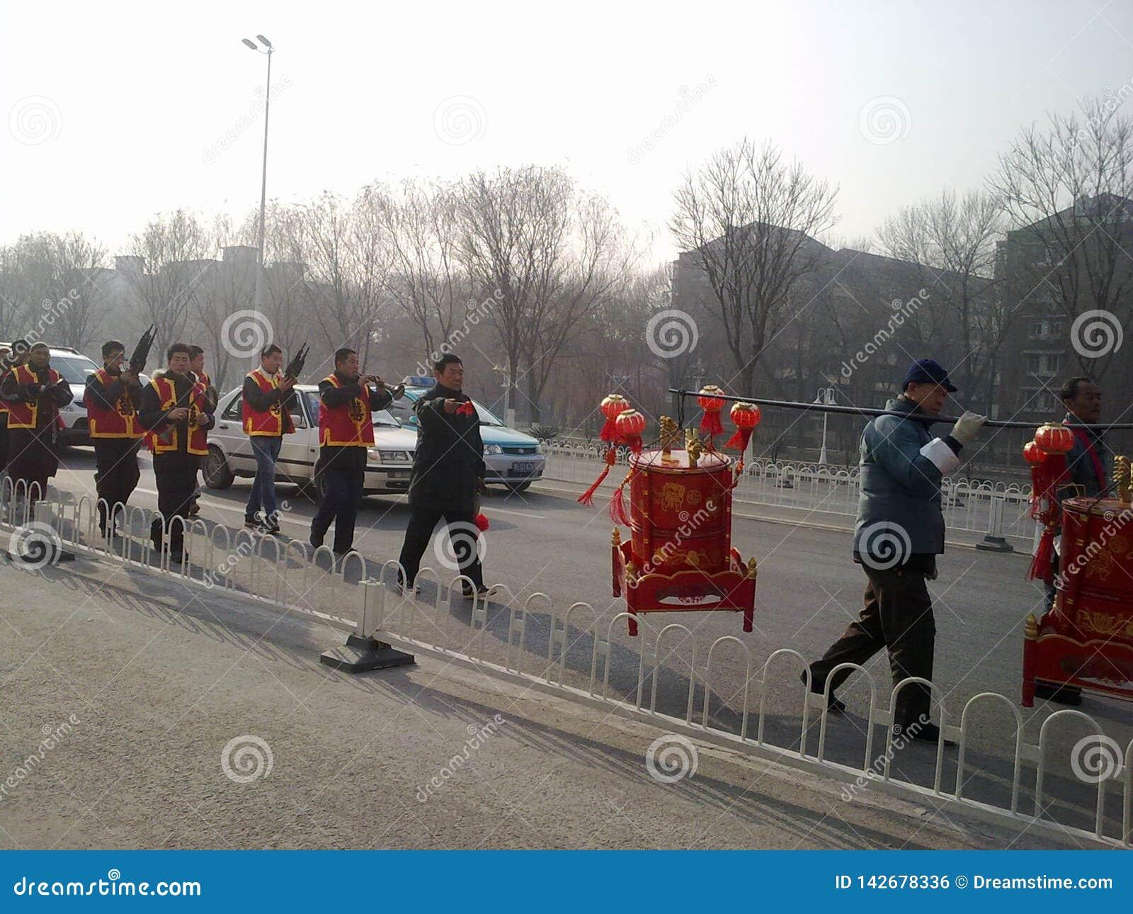 Chinesische traditionelle Hochzeit