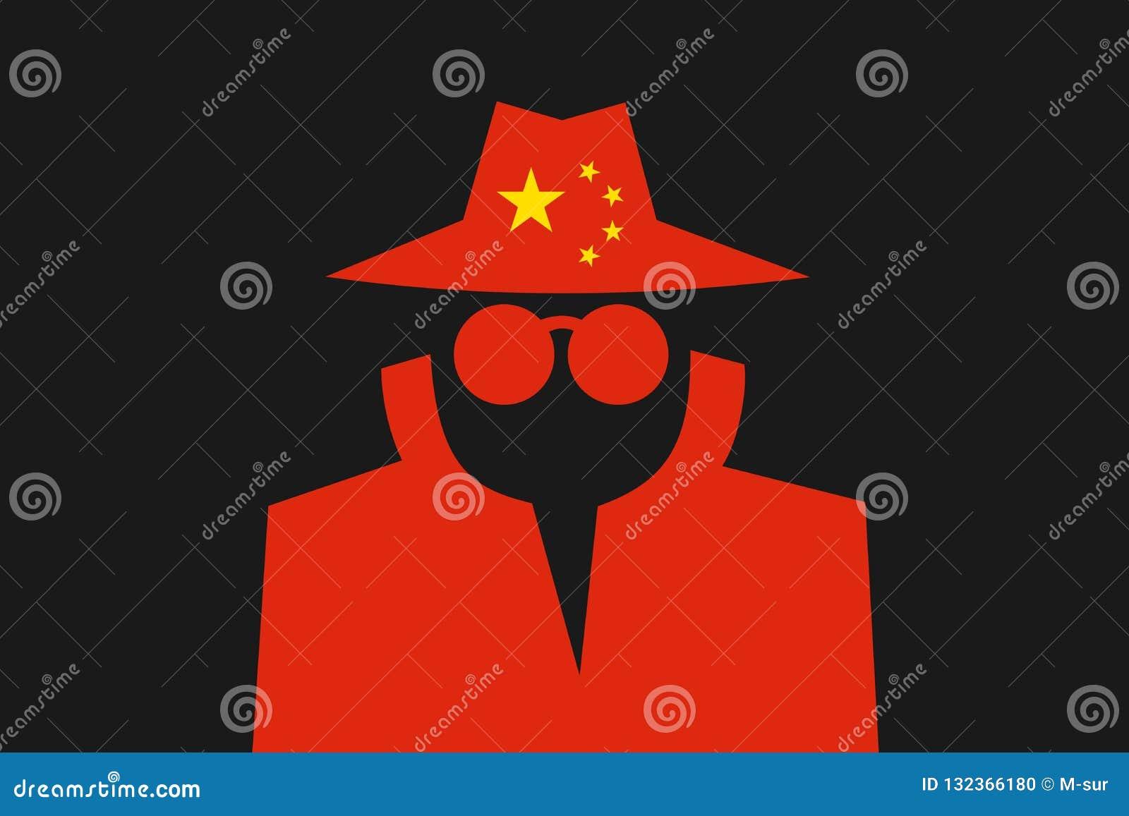 Chinesischer Spion tut Spionage