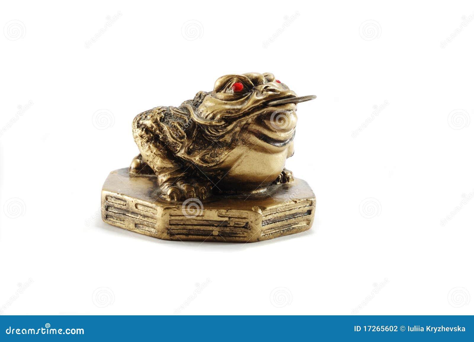 chinesisches feng shui geld frosch symbol des reichtums stockfoto bild von esoterica f lle. Black Bedroom Furniture Sets. Home Design Ideas